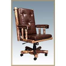 Glacier Country Log Office Chair