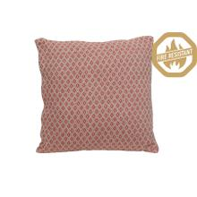 """66821564FR - ARABE Geometric Pillow Natural+Coral, Poly Fill, 20""""x20"""""""