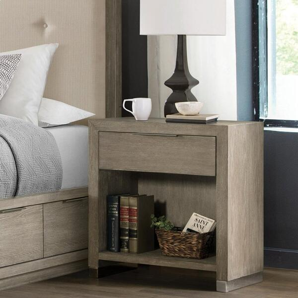 See Details - Zoey - One Drawer Nightstand - Urban Gray Finish