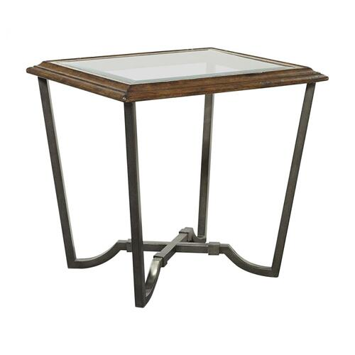End Table w/Glass Top