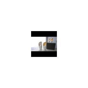 Cowl Lamp-White w/Gold Leaf-Sm