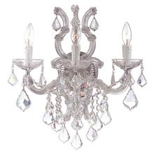 Maria Theresa 3 Light Spectra Crystal Chrome Sconce