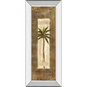 """Scroll Palm Il"" By Carol Robinson Mirror Framed Print Wall Art"