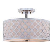 Kora Quatrefoil 3 Light 15-inch Dia Chrome Flush Mount - Chrome