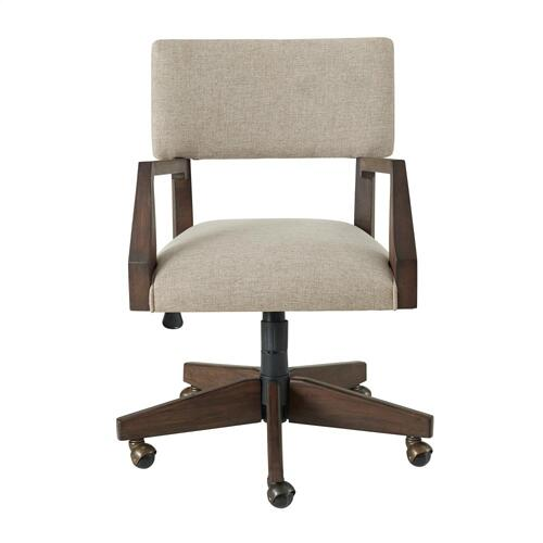 Sheffield - Upholstered Desk Chair - Rich Tobacco Finish