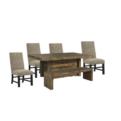 Ashley - Dining Table and 4 Chairs and Bench