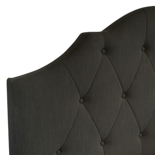 Tufted Upholstered Queen Bed in Steel Grey