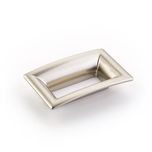 Finestrino, Pull, Flared Rectangle, Satin Nickel, 64 mm cc