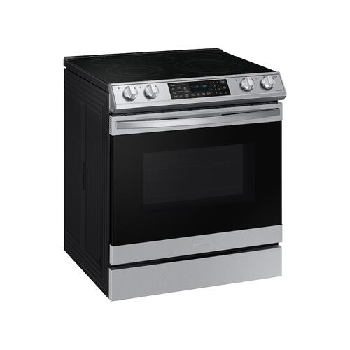 6.3 cu. ft. Front Control Slide-in Electric Range with Smart Dial, Air Fry & Wi-Fi in Stainless Steel