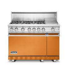 """48""""W. Gas Sealed Burner Range, Natural Gas, Solid"""