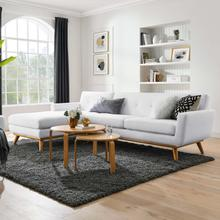 See Details - Engage Left-Facing Upholstered Fabric Sectional Sofa in White