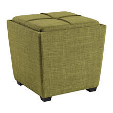 Rockford Storage Ottoman In Green