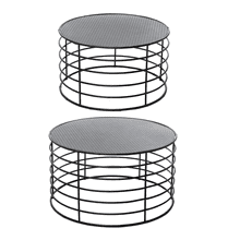 See Details - Round Black Nested Coffee Table (2 pc. set)
