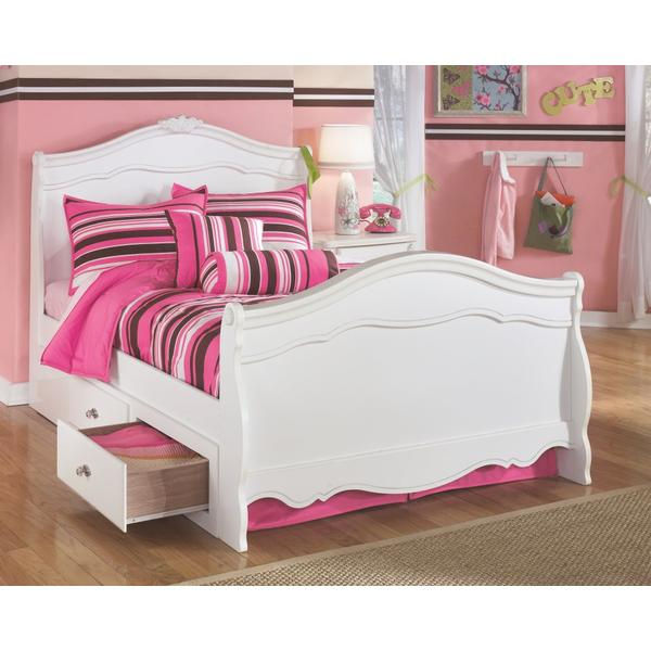 Exquisite Full Sleigh Bed With 2 Storage Drawers