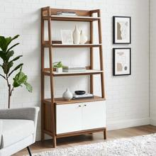 "Bixby 33"" Bookshelf in Walnut White"