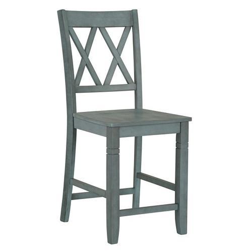 Standard Furniture - Benton 2 X-Back Barstools, Seafoam