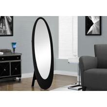 "MIRROR - 59""H / BLACK CONTEMPORARY OVAL FRAME"