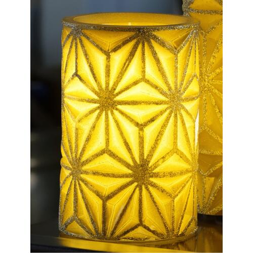 "6"" Gold Stella LED Candle"