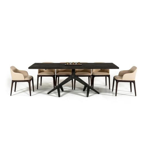 Modrest Moore Modern Aged Oak Live Edge Dining Table