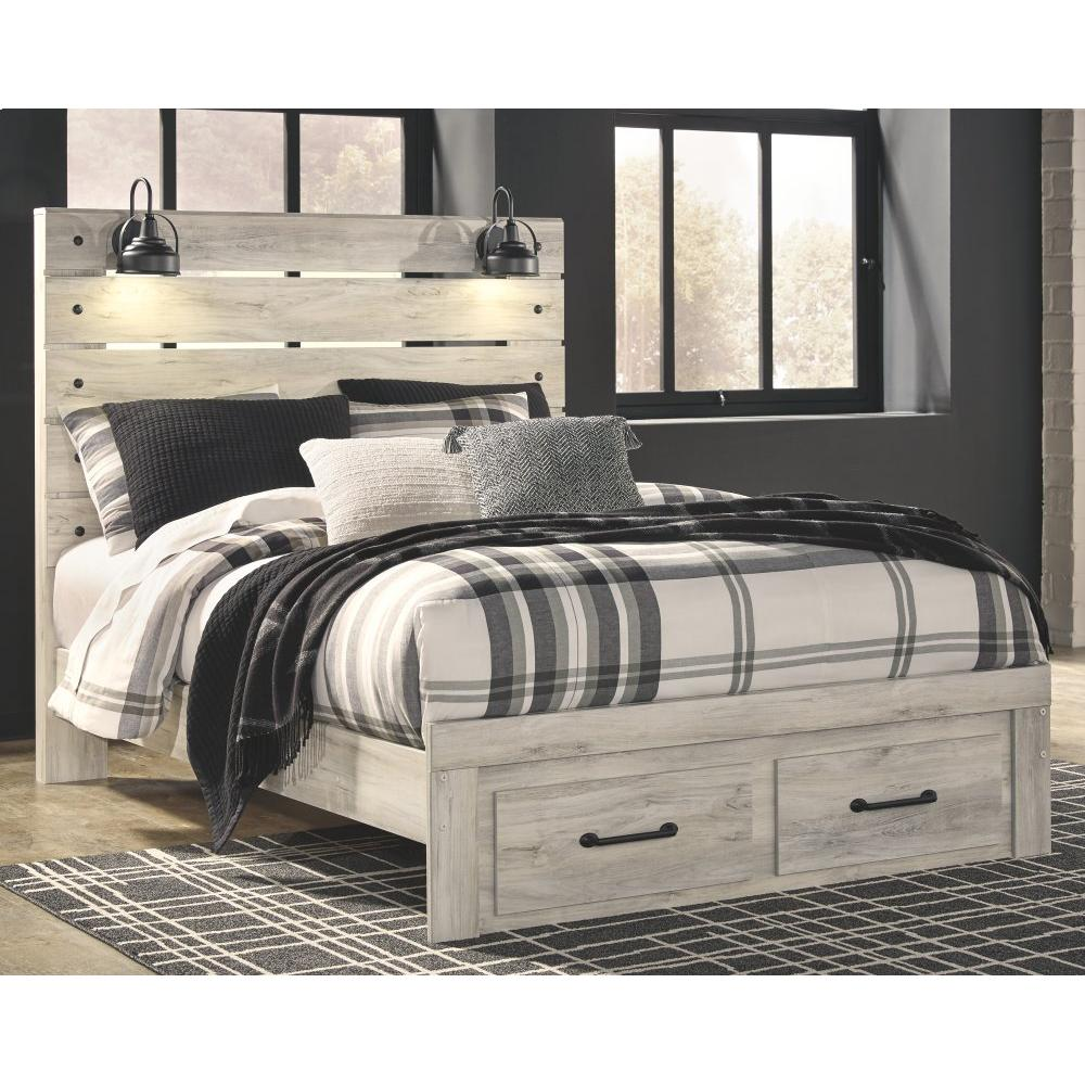 Cambeck Queen Panel Bed With 2 Storage Drawers