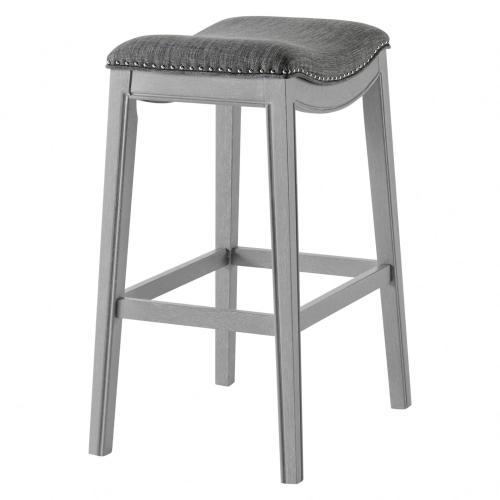 Product Image - Grover KD Fabric Bar Stool Ash Gray Frame, Lyon Dark Gray
