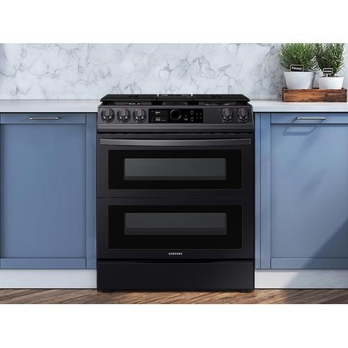 6.3 cu. ft. Flex Duo™ Front Control Slide-in Dual Fuel Range with Smart Dial, Air Fry & Wi-Fi in Black Stainless Steel
