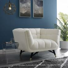 Adept Performance Velvet Armchair in Ivory
