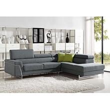 Divani Casa Darby - Modern Fabric Sectional Sofa Set