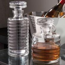 Ribbed Decanter-Tall