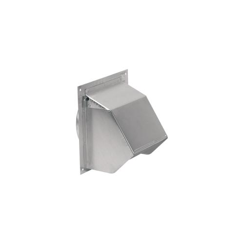 """Gallery - Aluminum Wall Cap for 6"""" Round Duct with Backdraft Damper and Bird Screen"""