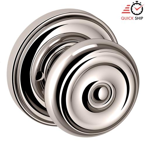 Baldwin - Polished Nickel with Lifetime Finish 5020 Estate Knob with 5048 Rose