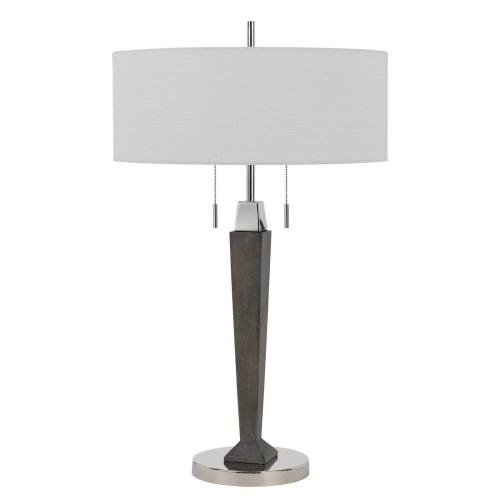 Drancy 60W X 2 Metal/Rubber Wood Desk Lamp With Pull Chain Switch