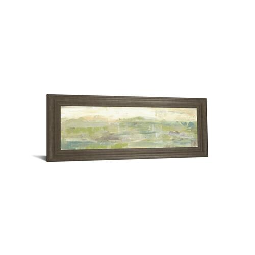 """Greenery Horizon Line III"" By Jennifer Goldberger Framed Print Wall Art"