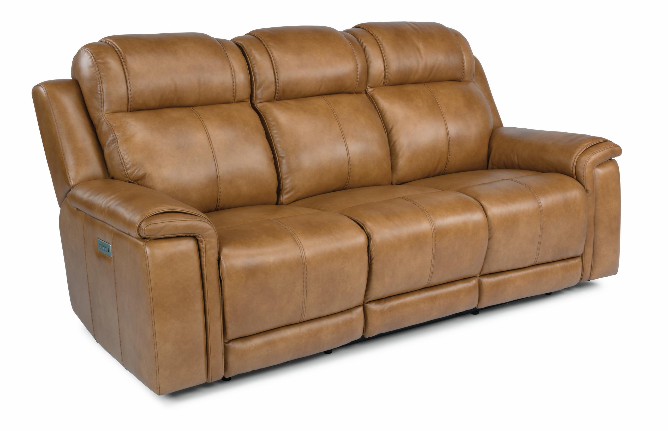 FlexsteelKingsley Power Reclining Sofa With Power Headrests And Lumbar
