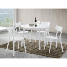 See Details - Roma Contemporary 5-PC Wood Dining Set, White