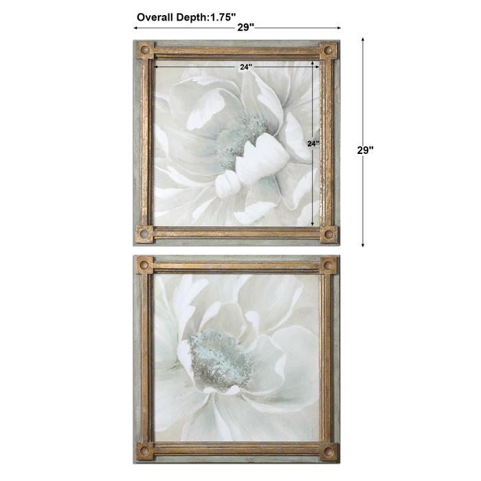 Uttermost - Winter Blooms Framed Prints, S/2