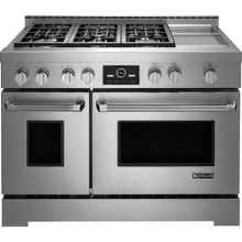 "Pro-Style® 48"" Gas Range with Griddle and MultiMode® Convection, Pro-Style® Stainless Handle"