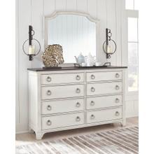 Nashbryn Dresser and Mirror White/Brown