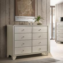 Keila Contemporary Champagne Silver Finish Wood 8-Drawer Dresser