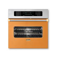 "30"" Single Custom Electric Touch Control Premiere Oven, Brass Accent"