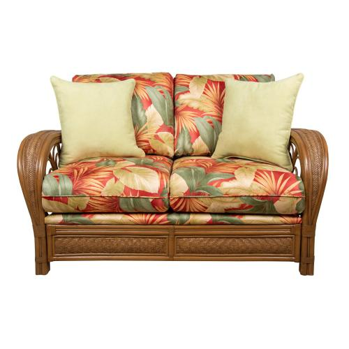 Loveseat, Sofa arms available in Tropic Natural finish Only