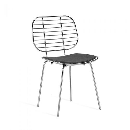 Harriet Dining Chair - Nickel
