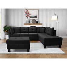 9127 Linen Sectional Sofa - RIGHT