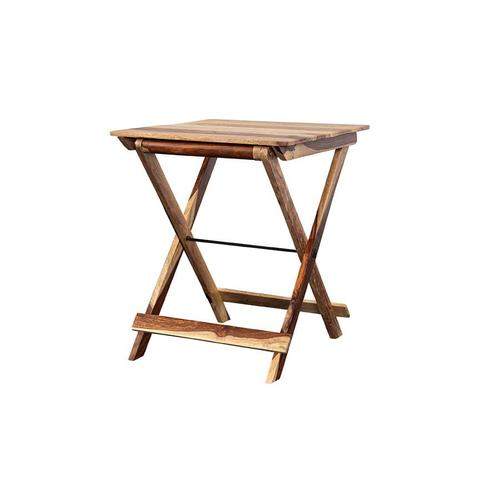 See Details - Sheesham Accents Square Folding Table, ART-246