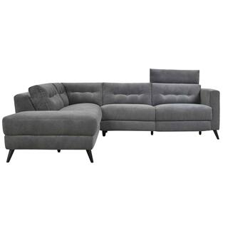 Beaumont Power Sectional Left Dark Grey