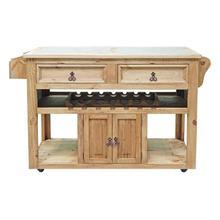Product Image - Kitchen Wine Cart Stone Insert