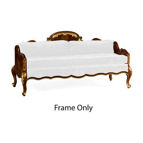 Bedroom Bench with Gilded Carving, Frame Only