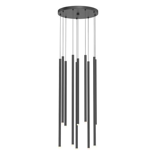 Sonneman - A Way of Light - Light Chimes LED Pendant [Size=10-Light Assorted, Color/Finish=Satin Black]