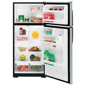GE® 15.8 Cu. Ft. CleanSteel Top-Freezer Refrigerator