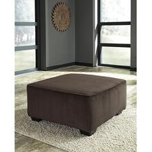 Signature Design by Ashley Jinllingsly Oversized Accent Ottoman in Chocolate Corduroy